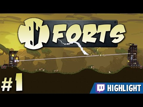 Forts - #1 - One Shot One Kill [Twitch Highlight] (4 Player Gameplay)