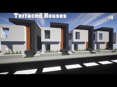 Minecraft - Lets Build a City Ep:2 Terraced House