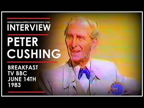 Peter Cushing Interview on Breakfast TV (1983)