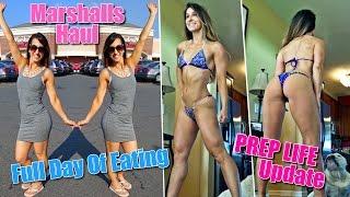 Full Day Of Eating Bikini Prep | Marshalls Shopping Haul