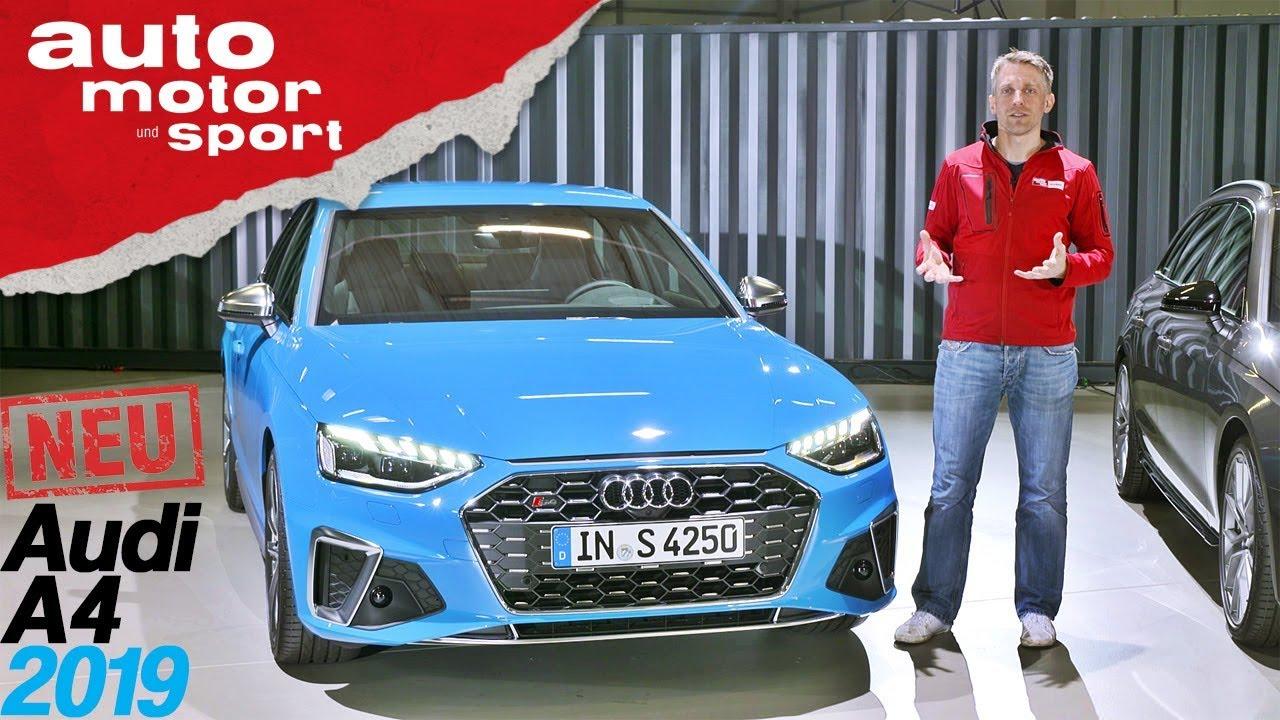 Audi A4 (2019): Alles, was du über das Facelift wissen musst - Review/Sitzprobe | auto motor & s