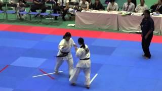 全日本女子(19名)準々決勝 795島田慧巳VS799田崎佑麻 http://kyokushin-...