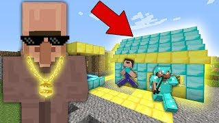 THE RICHEST VILLAGER Bought a HOUSE with Traps in a DIAMOND Village