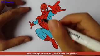 Spiderman cartoon Super Easy Video Lesson