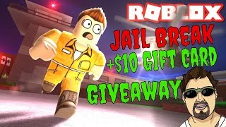 Roblox Jailbreak First Time! + $10 Gift Card Giveaway! 2 Hour Stream Only!