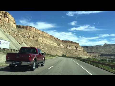 Drive I-70 Utah to Colorado
