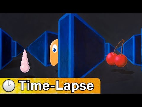 Pac-Man - Time Lapse Painting