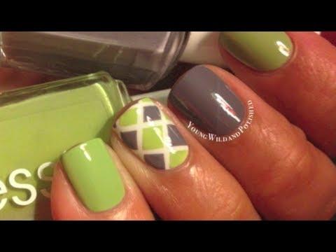Diamond Nail Tutorial--Easy Striping Tape Nail Art