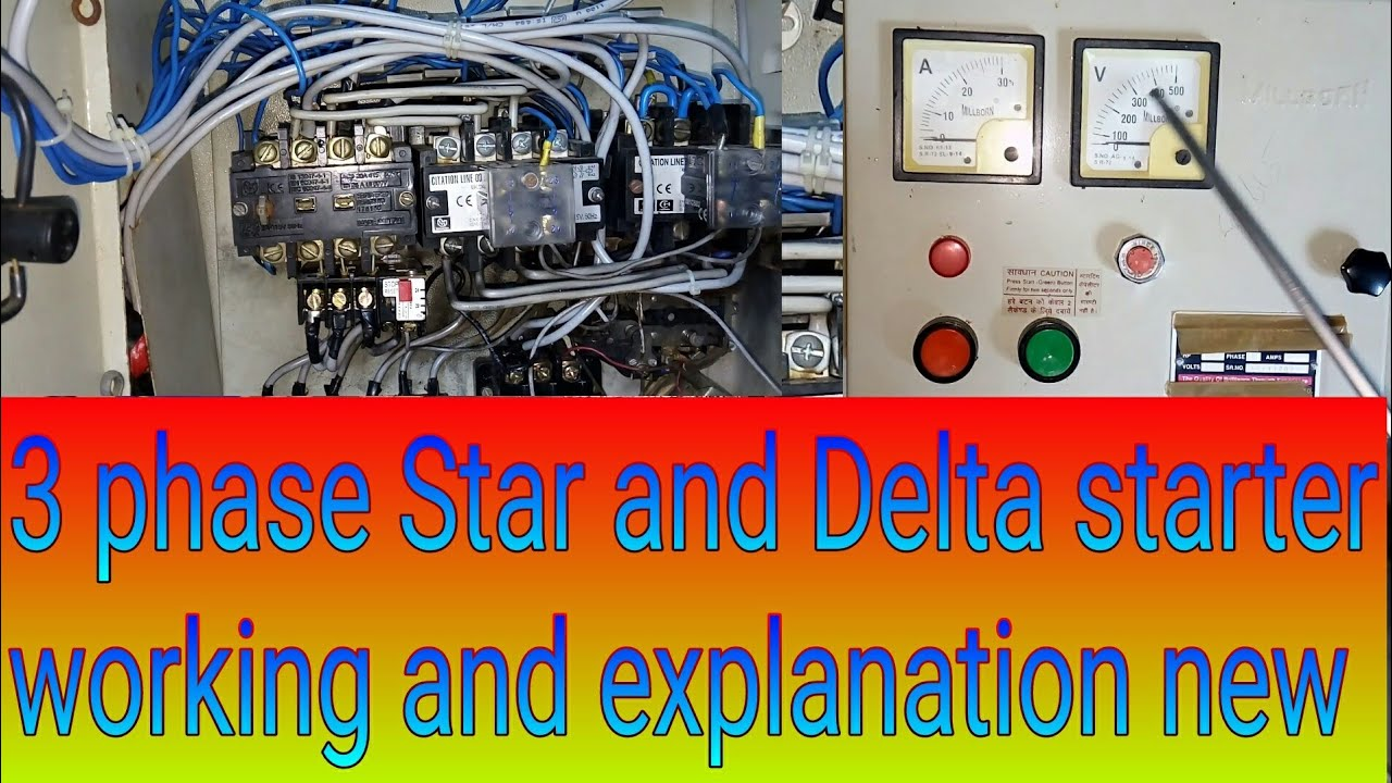 How The Star Delta Starter Reduce Starting Current Of Motor Wiring Diagram Control Connection