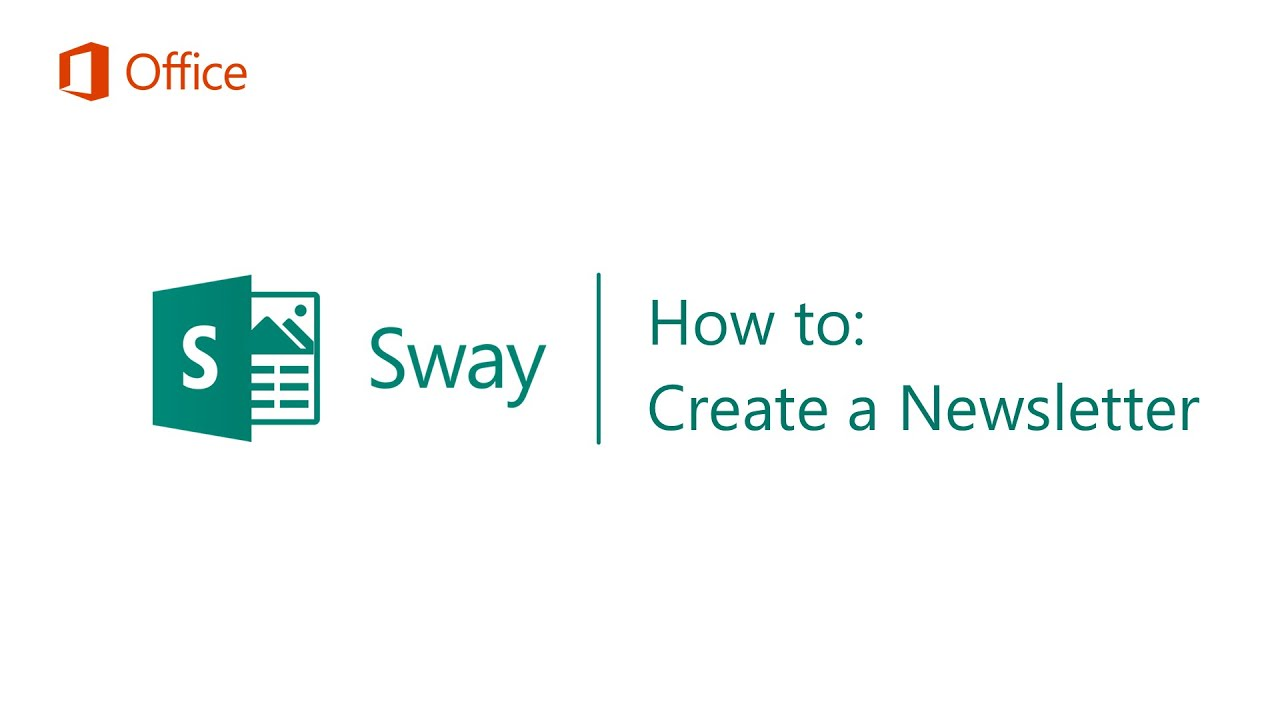 How To Create A Newsletter In Sway