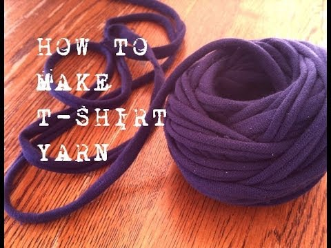 How To Make T-shirt Yarn - a Continous Strand - YouTube