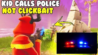 Kid Calls Police on Me Not Clickbait! 😱 (Scammer Gets Scammed) Fortnite Save The World