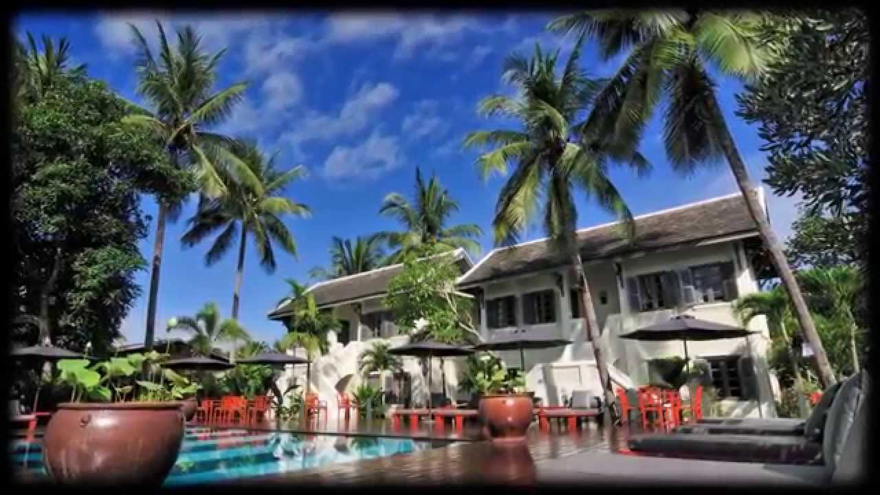 Hotel Luang Prabang Villa Maly Swimming Pool And Spa Youtube