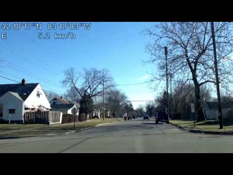 Driving from Inkster, Michigan to Detroit, Michigan