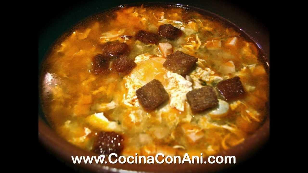 Cocina con ani sopa castellana f cil youtube - Sopa castellana youtube ...
