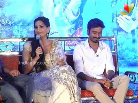 Dhanush: Hereafter i won't imitate Rajini | Raanjhnaa Press Meet | Sonam Kapoor Travel Video
