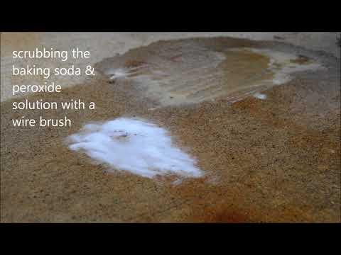 vinegar and baking soda rust remover