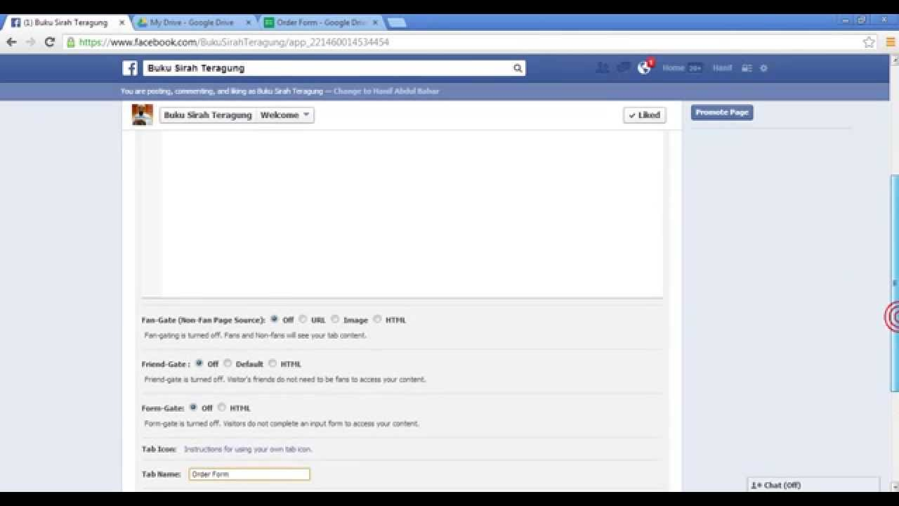 How To Put An Order Form In Facebook Tab