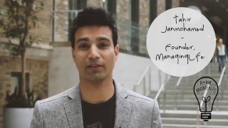 My Aha Moment with Tahir Janmohamed of ManagingLife #MaRSaha