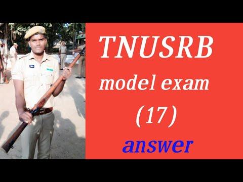 TNUSRB, PC ,SI ,model exam (17) answer