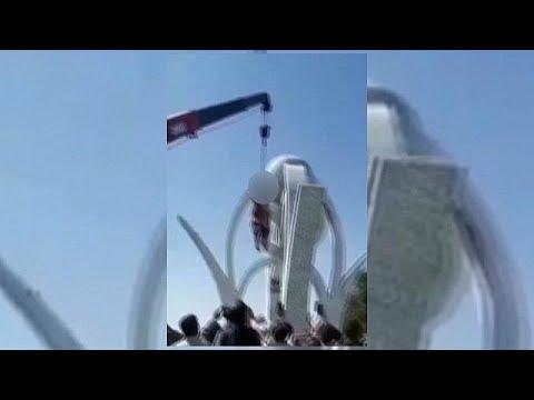فيديو: طالبان تعلق جثث  أربعة رجال في ساحة عامة في هرات -عبرة لغيرهم- …