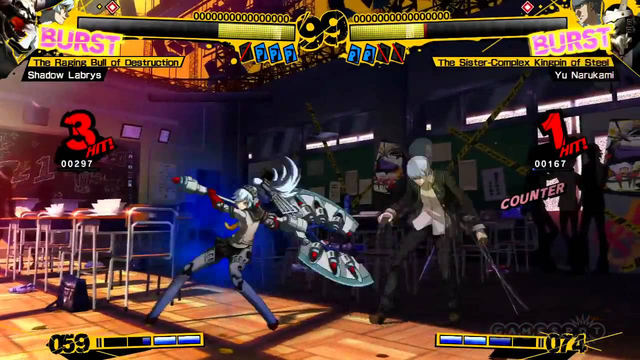 Labrys Vs Yu Persona 4 Arena Gameplay Youtube