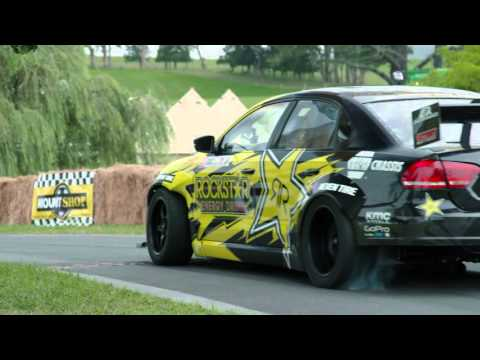 Rockstar Energy VW Passat drifts epic driveway in New Zealand Leadfoot Festival