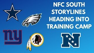 NFC East Training Camp Storylines || Cowboys Eagles Redskins Giants