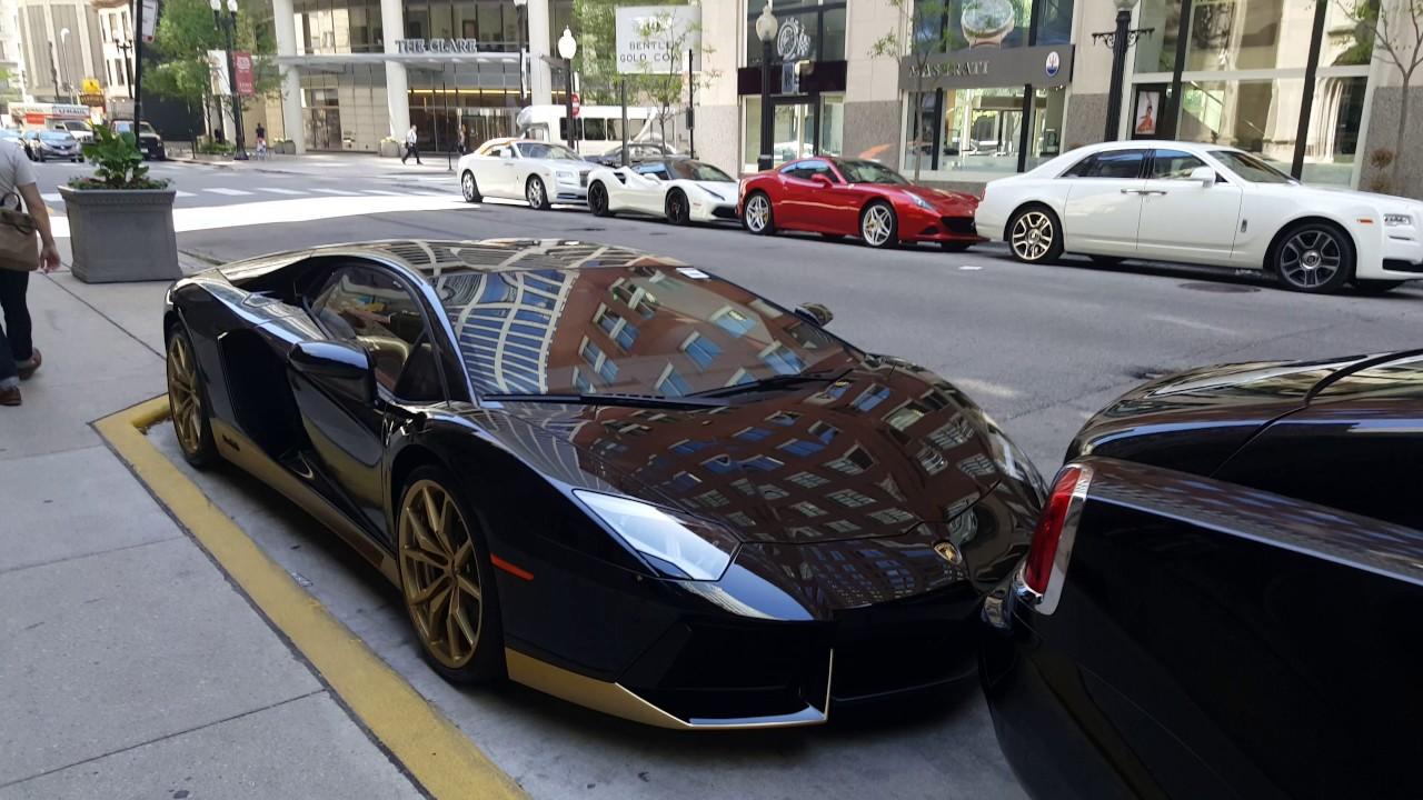 Lamborghinis, Ferraris, Bentleys, U0026 Rolls Royces Parked On Street In Gold  Coast