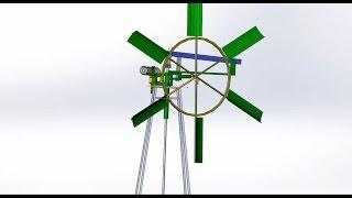 видео Самодельный ветряной насос