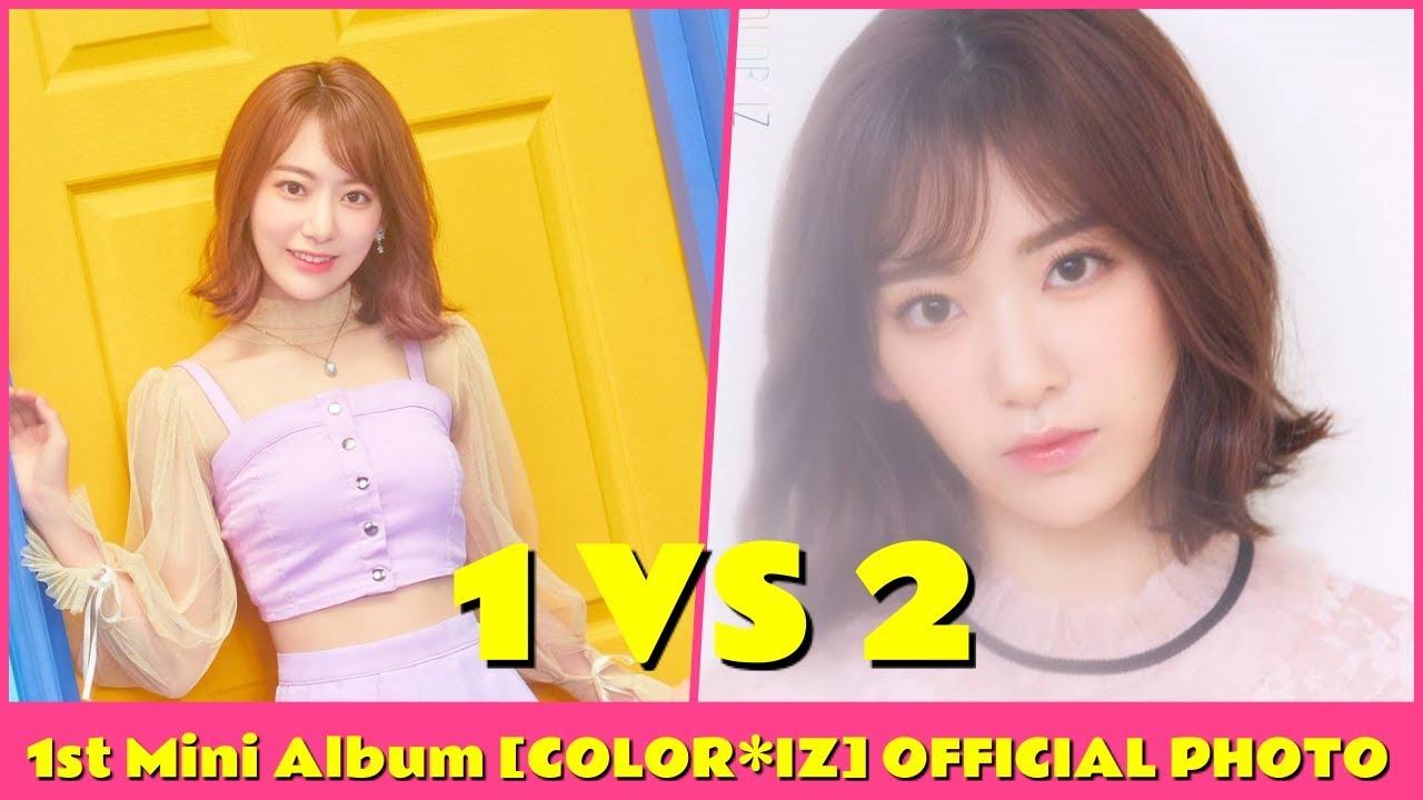 IZONE 1st Mini Album [COLOR*IZ] OFFICIAL PHOTO 1 VS 2