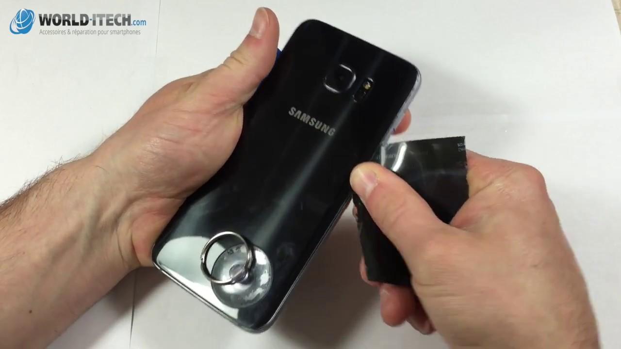 Tuto : remplacement vitre arrière Samsung Galaxy S7 et S7 EDGE - YouTube