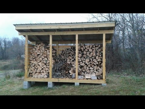 How To Build A Firewood Storage Shed