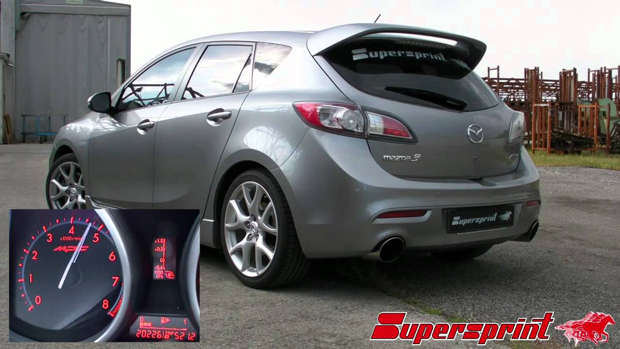 Mazda mazda 2.3 turbo : Mazda 3 MPS 2.3i Turbo '09 Supersprint full exhaust - YouTube