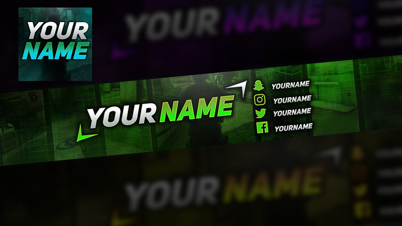 free youtube banner template photoshop by cobras youtube