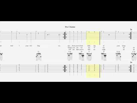Guitar Tab - Duet - Just Give Me A Reason - Play Along