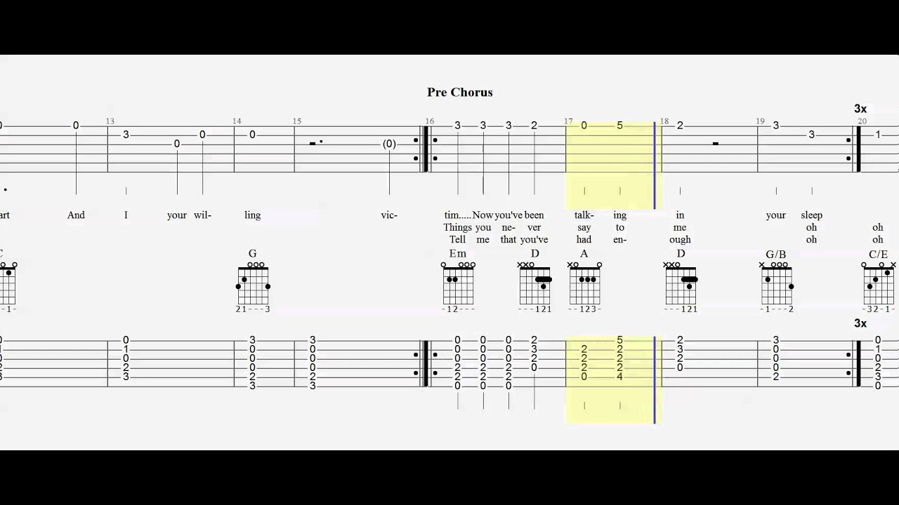 guitar tab duet just give me a reason play along youtube. Black Bedroom Furniture Sets. Home Design Ideas