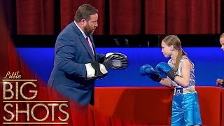 Evnika Shows Off Her Amazing Boxing Skills 🥊 | Little Big Shots