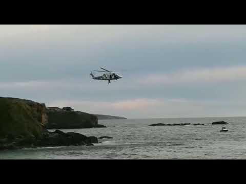 Espectacular rescate en la playa Foxos, Sanxenxo