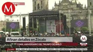 Detalles sobre el festejo de AMLO en el Zócalo