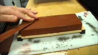Sharpening a Single Beveled Edge Knife on a Whetstone.