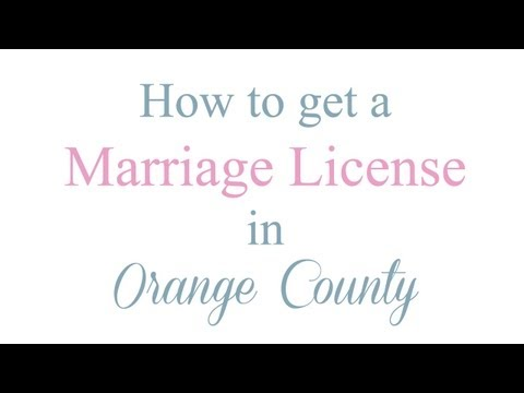How to Get a Marriage License in Orange County