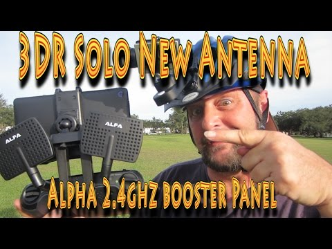 3DR Solo Smart Drone: Alfa 2.4ghz 7dBi Booster Panel Antenna!!! (11.15.2015)
