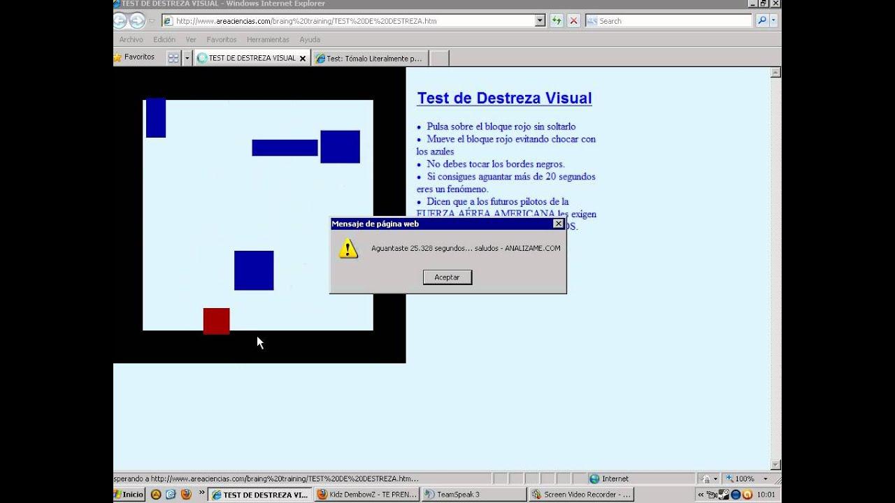 teste de screening vizual