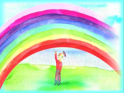 Rainbow song for children with colour magic - YouTube