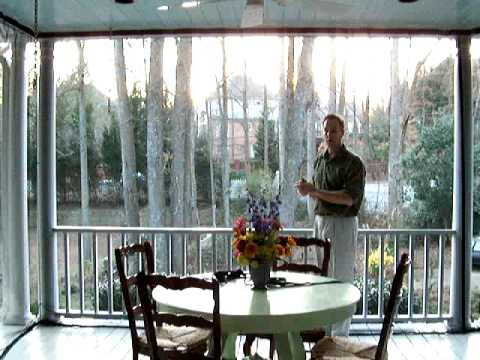 Curtains Ideas curtains for screened in porch : www.MosquitoCurtains.com example - YouTube