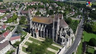 Saint Leu d'Esserent - Abbatiale XIIe Siècle - Drone