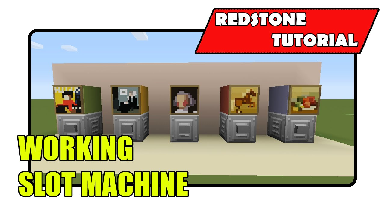 How to build a slot machine in minecraft poker clock professional license code