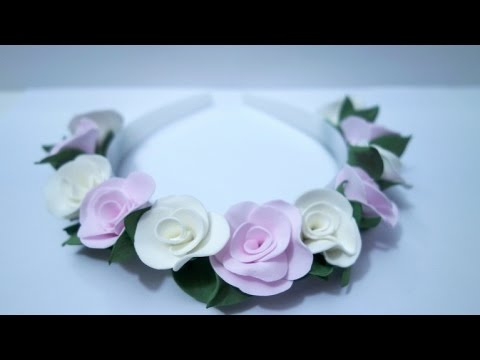 Roses - wrap with foam roses / Розы - ободок, обруч с розами из фоамирана Viva Woman