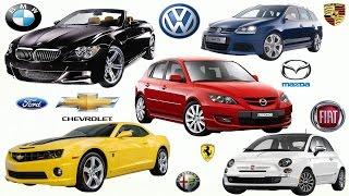 Мультик про машинки. Марки машин.Развивающий мультик   Car brands for children